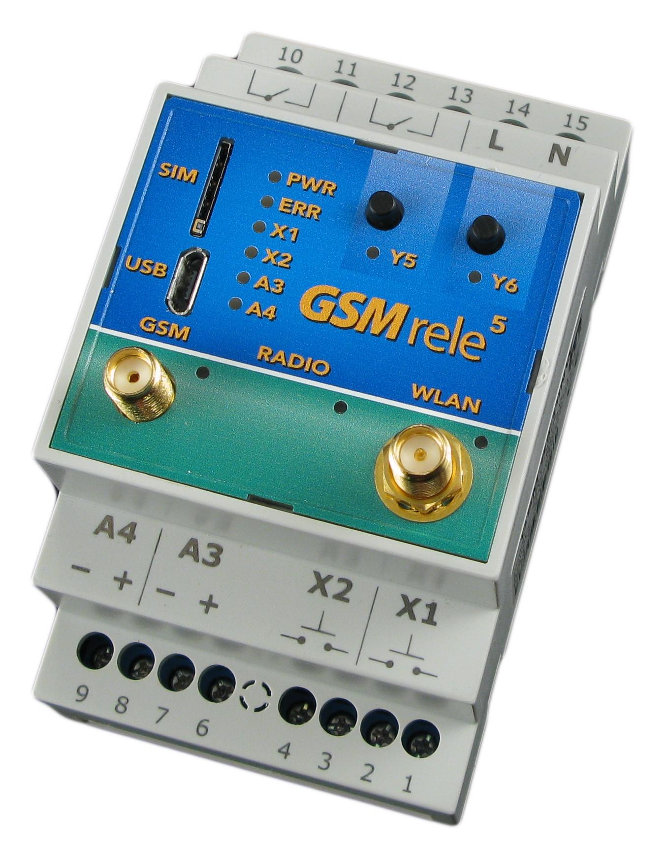 GSM-R5-DINW – dálkově ovládejte přes GSM i WIFI